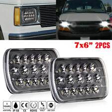 2x Black 7''x6'' LED Headlights For Chevy Express Cargo Van 1500 2500 3500 Truck