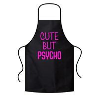 Cute but Psycho Sprüche Spruch Lustig Spaß Grillschürze Kochschürze Latzschürze