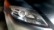 REAL CARBON FIBER STYLE 3 HEADLIGHT EYELIDS/EYEBROWS 04-08 MAZDA RX-8 SE3P JDM