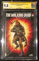 WALKING DEAD ALL OUT WAR CHAPTERS 1 & 2 SDCC CGC SS 9.8 SIGNED KIRKMAN 115-116