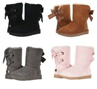 NEW UGG Women's Customizable Bailey Bow Short Boots Black Chestnut Pink