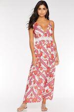BNWT QUIZ Lightweight Backless Maxi Dress Floral Print Size 16 Summer Beach