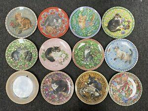 Lesley Anne Ivory Cat Plates Meet My Kittens Jan-Dec