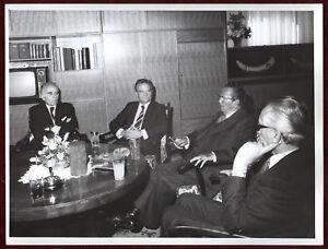 1960s Original Photo Josip Broz Tito Diplomacy Office Drinks Cigar Meeting YU