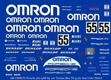 #55 Omron Porsche 1988 - 89 1/32nd Scale Slot Car Decals