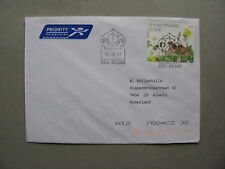 FINLAND, cover to the Netherlands 2003, frog insect bee beetle butterfly