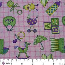 CUDDLES – Debbie Mumm – SSI - Baby Toys Pink – FABRIC FQ