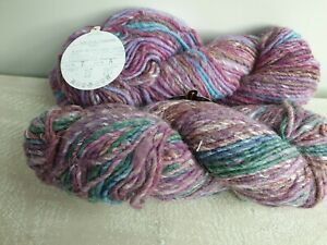 NORO 'TRANSITIONS'  'COLOUR 7 LOT A' SILK/ WOOL BLEND 2x 100g