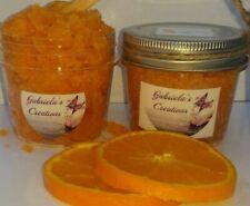 Orange Body Sugar Scrub All Natural & Handmade Exfoliating and Moisturizing 6 Oz