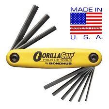 Bondhus Gorilla Grip Hex Fold Up Wrench Set SAE Standard Inch .05-3/16 USA 12591