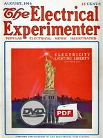 HUGE The Electrical Experimenter & Science Invention Magazines 212 Issues on DVD