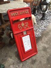 British Royal Mail GR VI Cast Iron Post Box Front Post Office Box Fascia