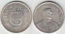 Gertbrolen Suisse 5 Francs argent 1933   Swiss  Confédération Hélvétique