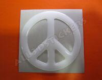 Pegatina Simbolo Paz 3D Relieve - Color Blanco