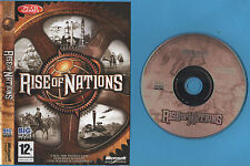 RISE OF NATIONS PC CD-ROM GAME + BOOKLET + INNER SHEET + PRODUCT KEY