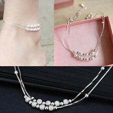 Silver Bead Chain Anklet Ankle Bracelet Barefoot Sandal Beach Foot Jewelry New