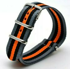 22mm Nato watchStrap Correa Reloj Nylon band negro gris naranja black grey orang
