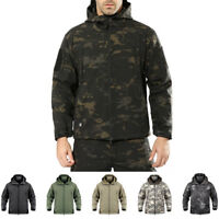 Men's Outdoor Military Tactical Soft Shell Waterproof Coats Jacket Outerwear TAD