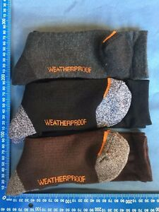 14 PAIRS WOOL Weatherproof CUSHION WORK Hiking SOCKS mixed colors size 7-11