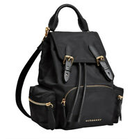 NWT Authentic Burberry Small Rucksack Technical Nylon & Leather Backpack