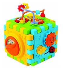 PlayGo DISCOVERY CUBE Wind Up Musical Developmental Toy ~NEW~