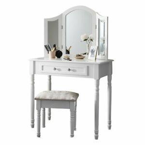 Dressing Table Stool Mirror Jewellery Organiser Makeup Cabinet  Drawers