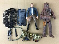 New Star Wars LEGACY Han Solo & Chewbacca & C-3PO Action Figures S447