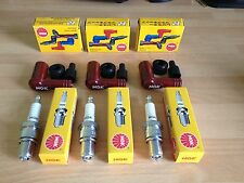 SUZUKI GT380 J/K/L/M/A/B 72-77 GT750 M/A/B NGK SPARK PLUGS AND CAPS FREE POST