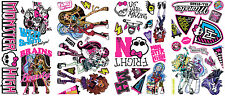 MONSTER HIGH WALL STICKERS 37 Big Decals Abbey Draculaura Ghoulia Frankie Stein