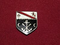 VINTAGE WWII SHIELD PIN WITH LION ANCHOR