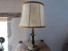 ANCIENNE  LAMPE BRONZE & PORCELAINE NAPOLEON III - FRENCH ANTIQUE - ÉLECTRIFIER