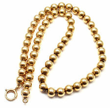 Rare! Authentic Tiffany & Co 14k Yellow Gold Bead Necklace