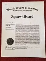 SquawkBoard Trademark and Web Site for Sale, Lease, License options & More.