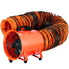 """12"""" Extractor Fan Blower Portable w/5m Duct Hose Ventilator Industrial Air Mover"""