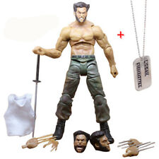 "Marvel Legends Wolverine III Logan X-man Infinite Figure Toy & Necklace 6"" PVC"