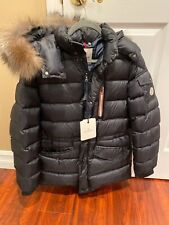 Girls Moncler Jacket Navy Size 14 NEW WITH FUR (can Fit A Womens Xs)