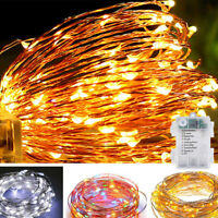 100LED 10M Copper Wire LED Battery Powered Waterproof String Fairy Lights 8Modes