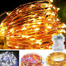 10M 100LED Copper Wire LED Battery Powered String Fairy Lights Warm White 8Modes