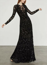 BCBG MAXAZRIA Selma Velvet Burnout Gown Prom Long Black Dress Size S Small NWT