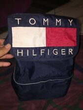 Vntg Tommy Hilfiger Big Logo Spell Out Backpack Cooler Color Block Lunch Bag