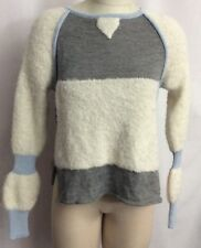 NWT Giu Giu $600 Malmo Colorblock Baby Alpaca Cropped Sweater XS Runs Big