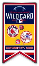 2021 Sauvage Carte Dueling Broche Boston Rouge Sox Vs. N.y. New York Yankees Du