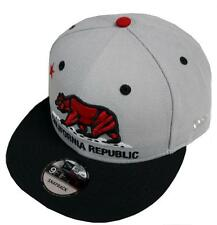 New Era California Republic Grey Black Red Snapback Cap 9fifty 950 Limited