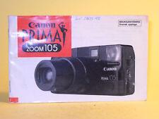 Original(!) Canon Prima Zoom 105 Instruction Manual - in Swedish!