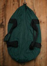 "Vintage EDDIE BAUER Green Nylon Canvas Extra Large 36"" Travel Duffle Hockey Bag"