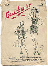 Vintage 50's BLACKMORE PLAYSUIT*SWIMSUIT*BEACH/SWIM WEAR*JACKET Sewing Pattern