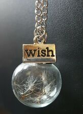 Make a wish necklace/pendant with chain! Beautiful gift idea fairy inspired