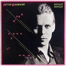 PETER BAUMANN: Repeat Repeat UK Virgin Synth Electronic Pop LP NM-