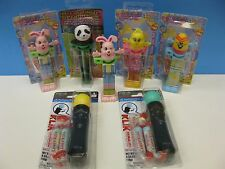 7 KLIK CANDY DISPENSERS PANDA EASTER Rabbit Egg PS 3 REMOTE SEALED like PEZ NEW