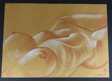 Grand dessin au pastel crayon « Erotique nue» signé Stanislav Strutsenko 42x30